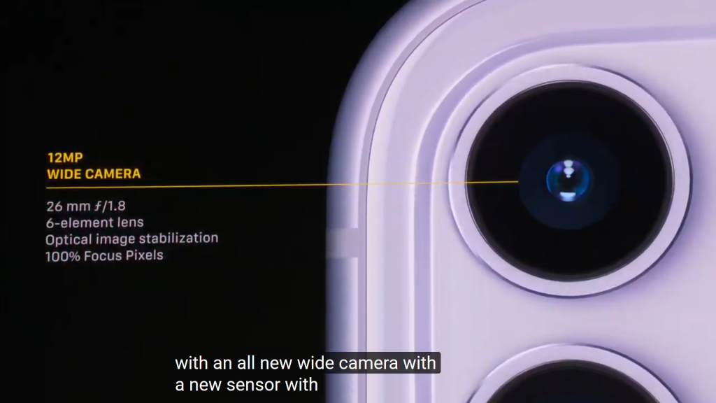 iPhone 11 Top Camera Specs